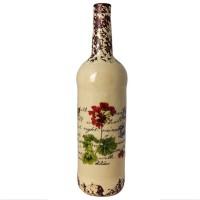Бутыль декоративная «Герань»