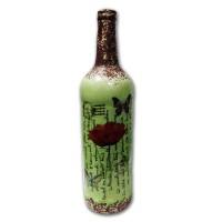 Бутыль декоративная «Красный мак»