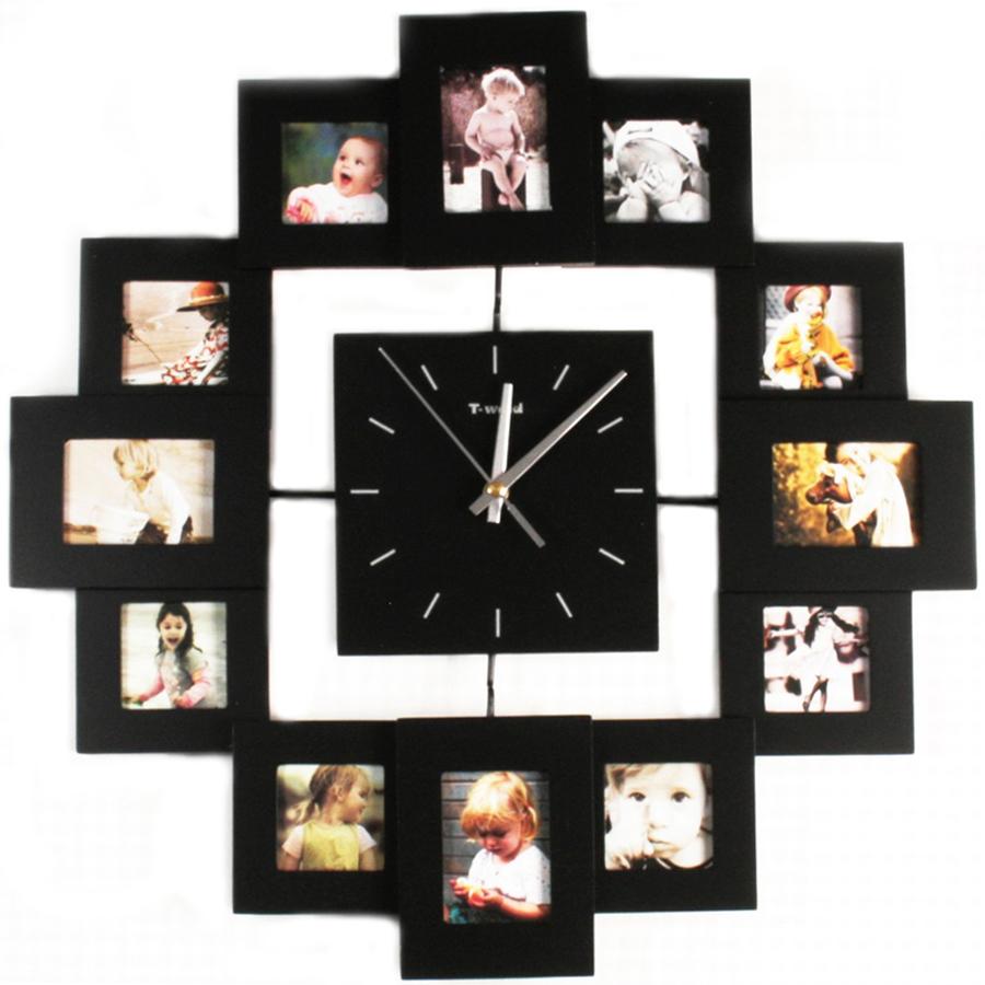 Часы настенные из фото своими руками