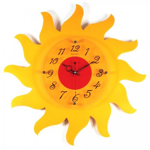 Часы настенные в виде солнца своими руками 124