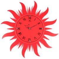Часы настенные в виде солнца своими руками 16