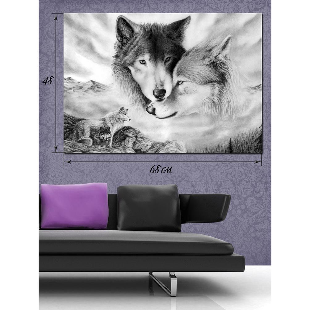 h схему вышиви про волков