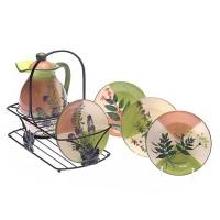 Набор кувшин и четыре тарелки «Травы»