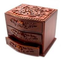 Резная деревянная шкатулка «Пожелание»