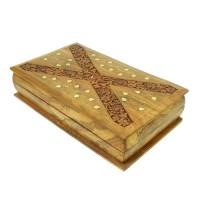 Шкатулка деревянная «Листок»