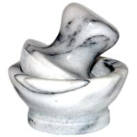 Широкая ступка «Белый мрамор»