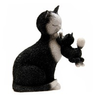 Статуэтка «Кошка с котенком»