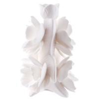 Ваза декоративная «Белый пион»