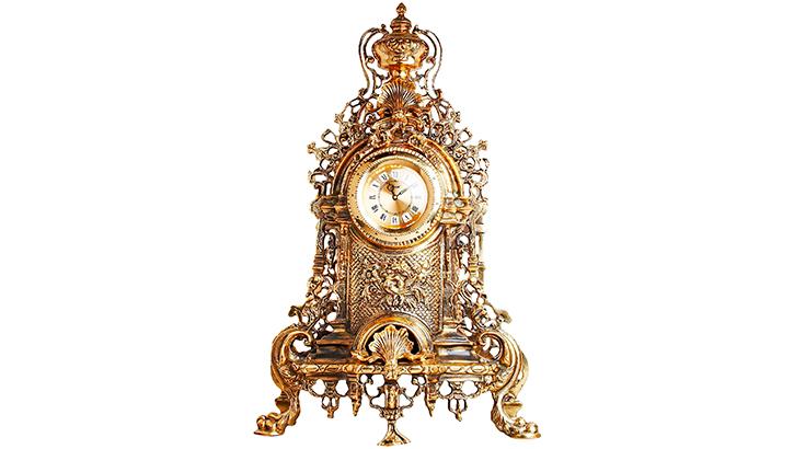 Каминные часы из бронзы «Бэрримор»