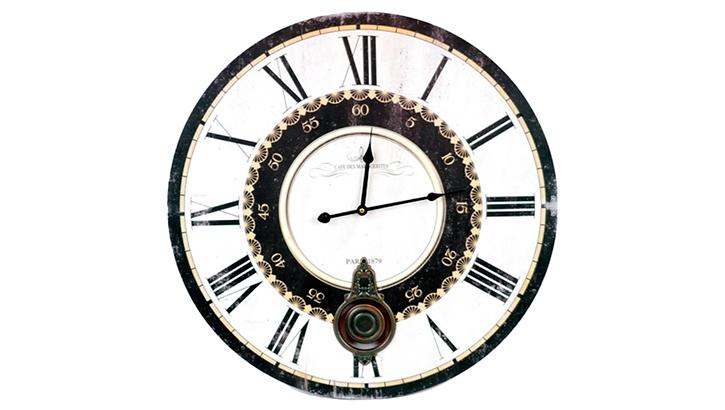 Большие настенные часы «Двойной циферблат»