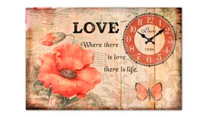 Часы настенные «Жизнь — это любовь»