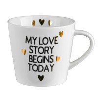 Чашка «My love story begins today»